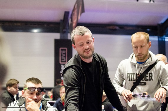 James Akenhead at the partypoker LIVE Million Germany Main Event